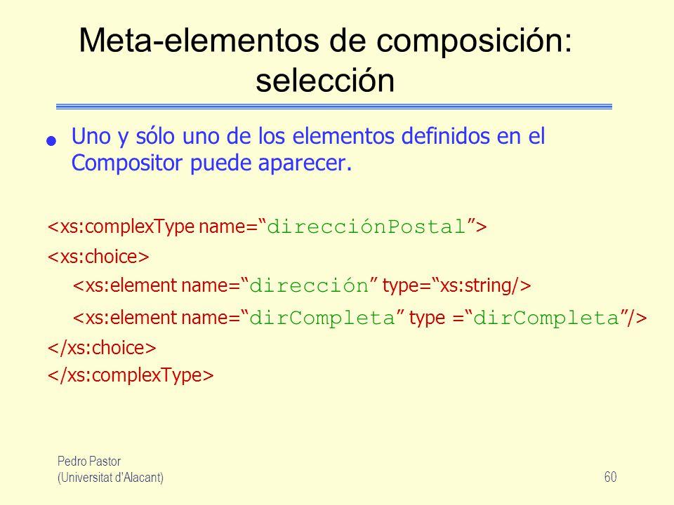 Meta-elementos de composición: selección