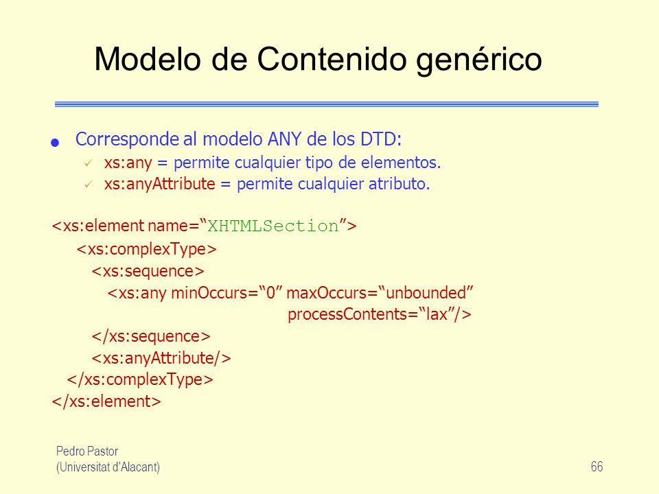 Modelo de Contenido genérico
