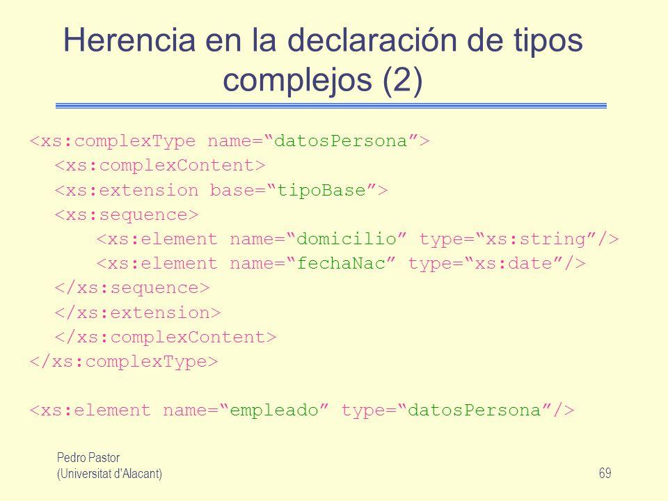 Herencia en la declaración de tipos complejos (2)