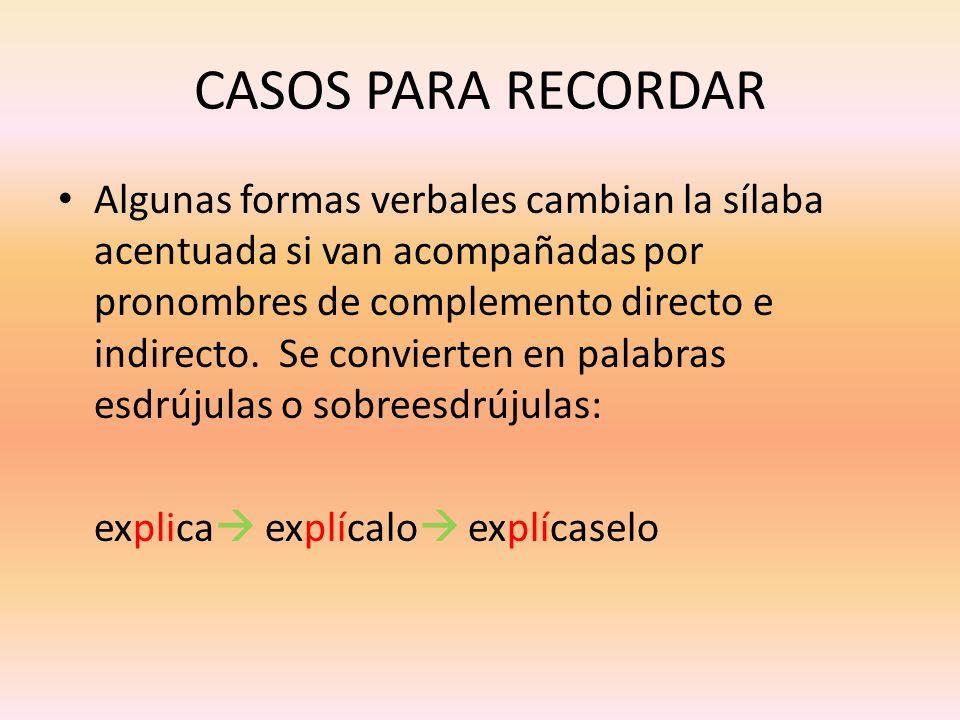 CASOS PARA RECORDAR