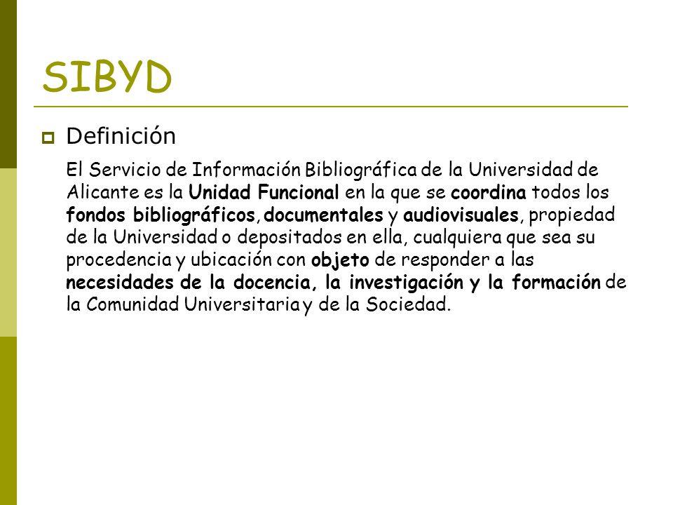 SIBYD Definición.