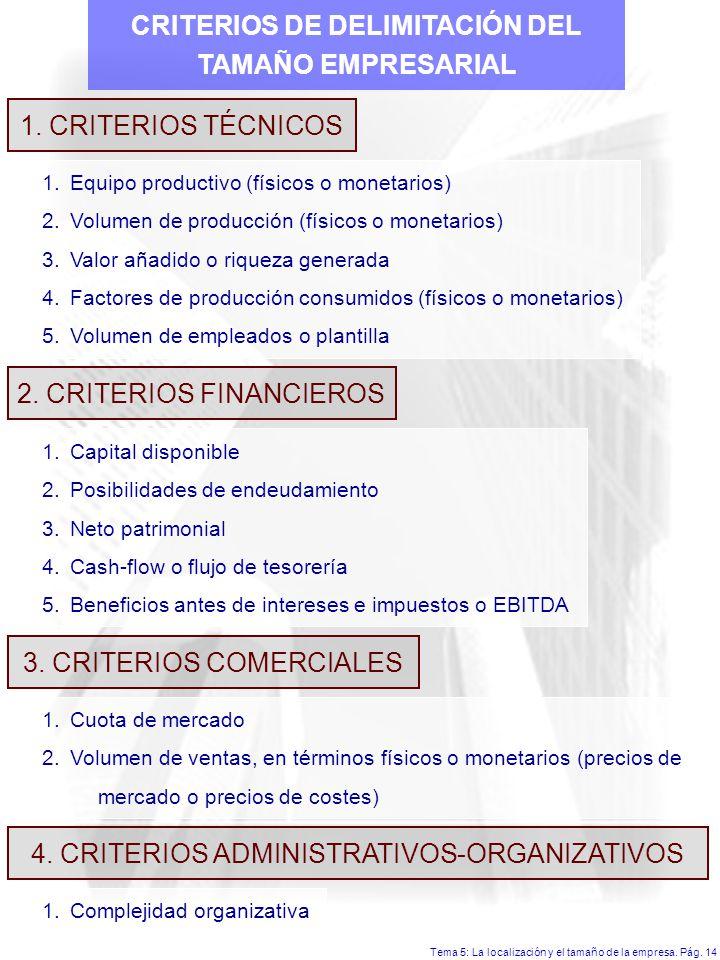 CRITERIOS DE DELIMITACIÓN DEL