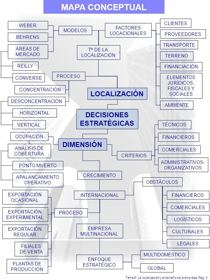 MAPA CONCEPTUAL LOCALIZACIÓN DECISIONES ESTRATÉGICAS DIMENSIÓN