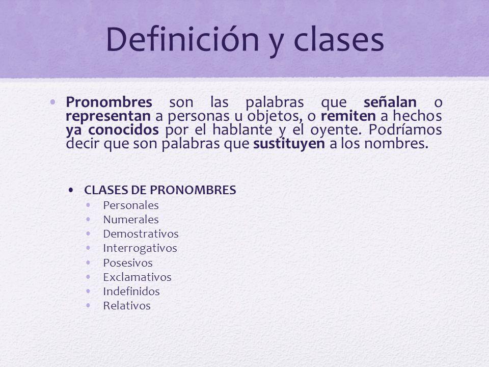 Definición y clases