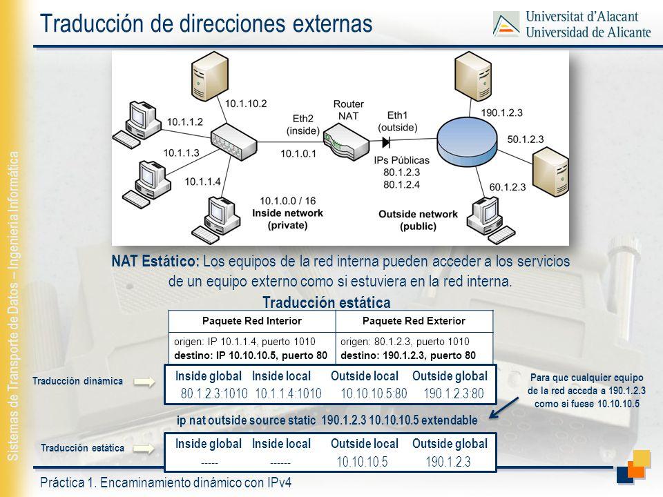 Traducción de direcciones externas