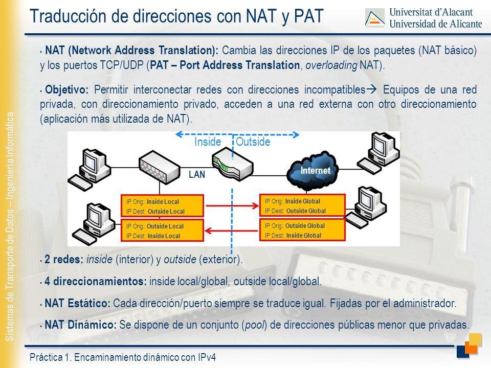 Traducción de direcciones con NAT y PAT