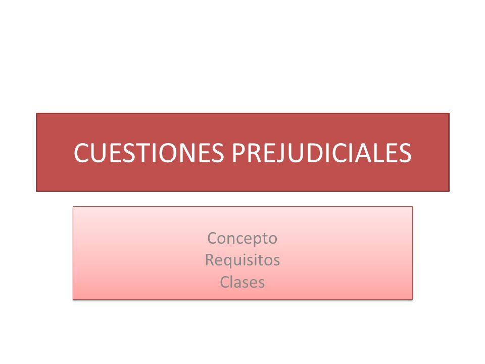 CUESTIONES PREJUDICIALES