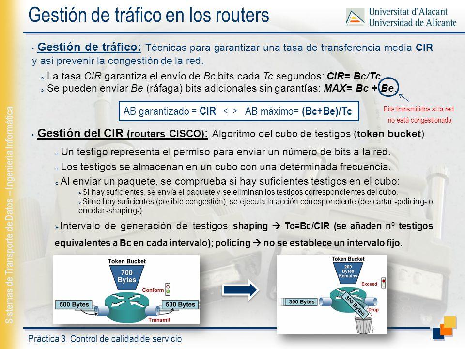 Gestión de tráfico en los routers