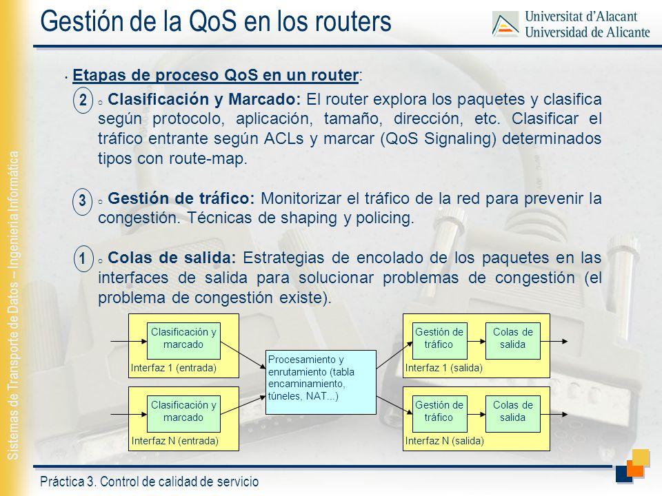 Gestión de la QoS en los routers