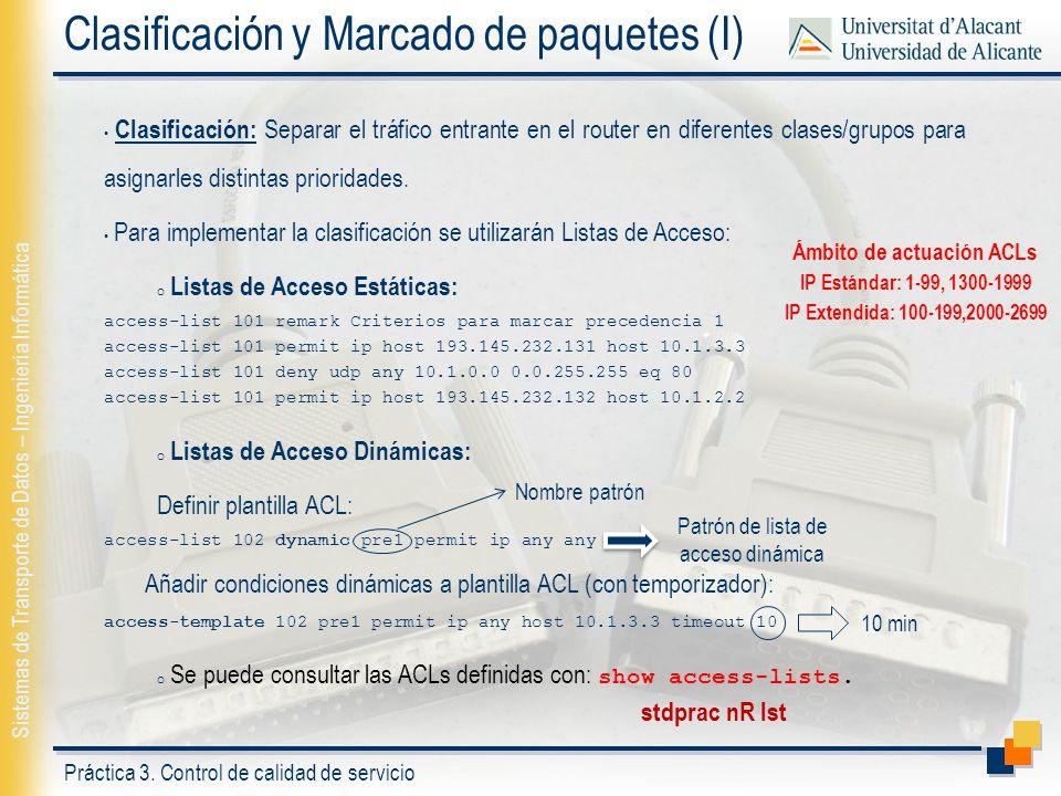 Clasificación y Marcado de paquetes (I)