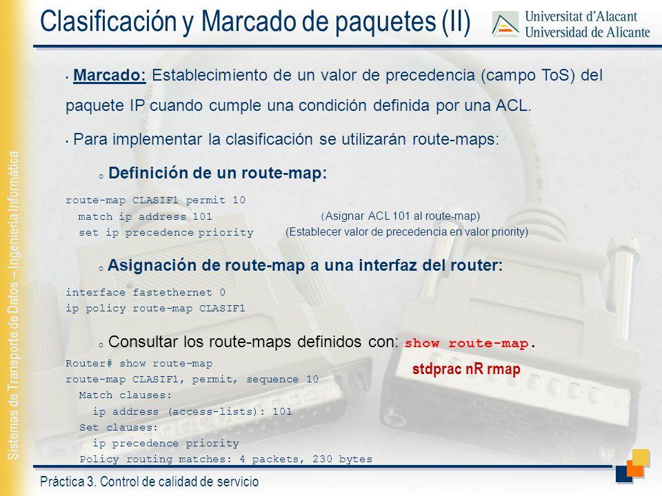 Clasificación y Marcado de paquetes (II)