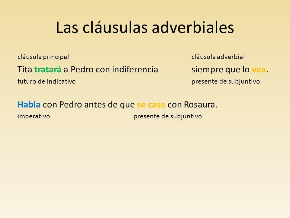 Las cláusulas adverbiales