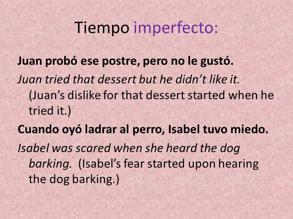 Tiempo imperfecto: