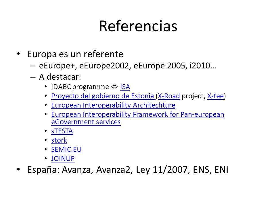 Referencias Europa es un referente