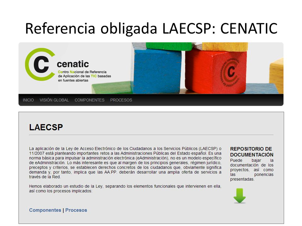 Referencia obligada LAECSP: CENATIC