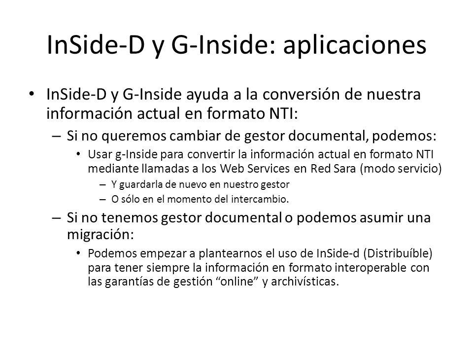 InSide-D y G-Inside: aplicaciones
