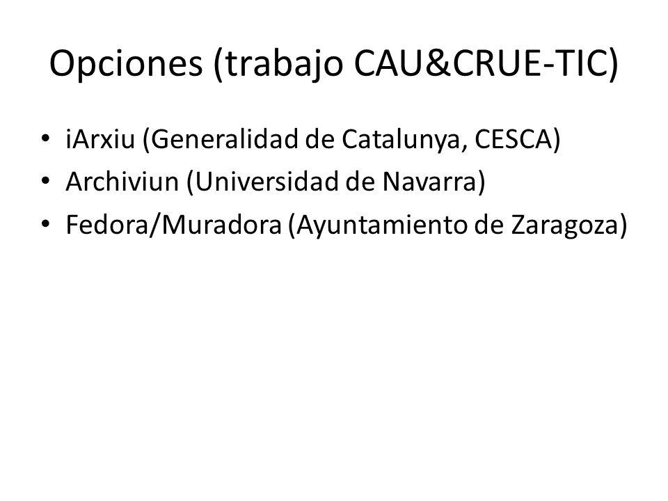 Opciones (trabajo CAU&CRUE-TIC)
