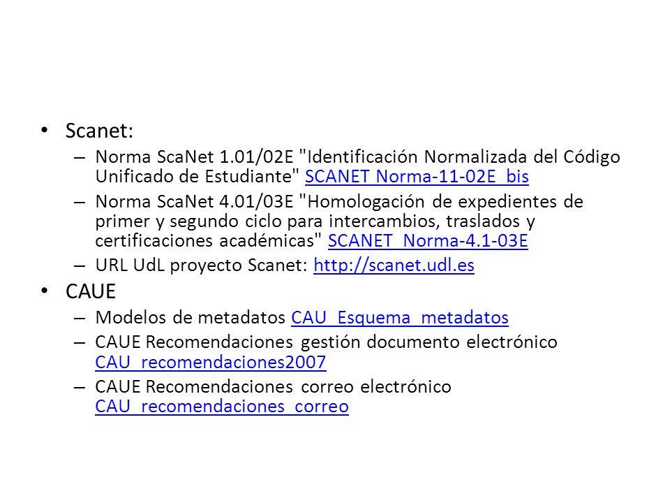 Scanet: Norma ScaNet 1.01/02E Identificación Normalizada del Código Unificado de Estudiante SCANET Norma-11-02E_bis.
