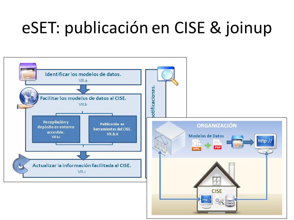eSET: publicación en CISE & joinup