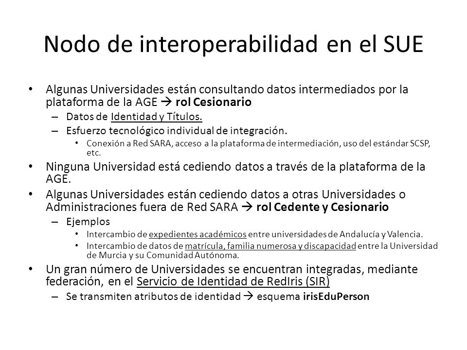 Nodo de interoperabilidad en el SUE