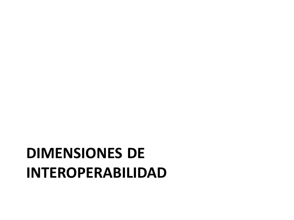 Dimensiones DE interoperabilidad