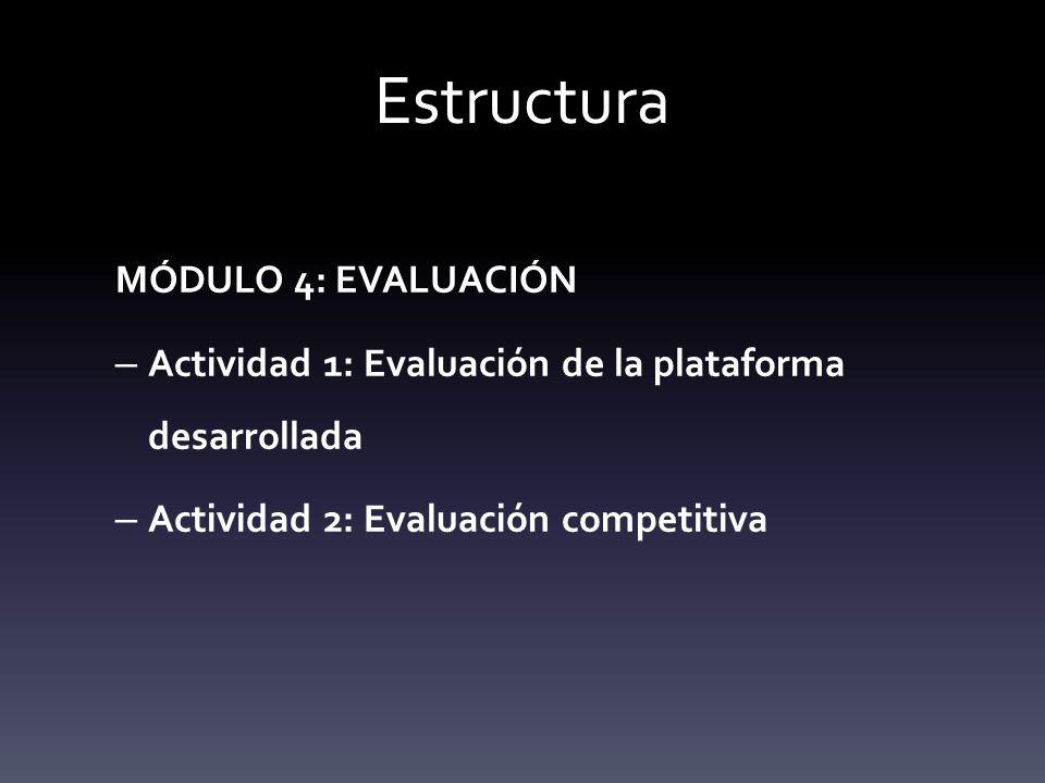 Estructura MÓDULO 4: EVALUACIÓN