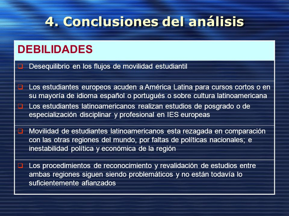 4. Conclusiones del análisis