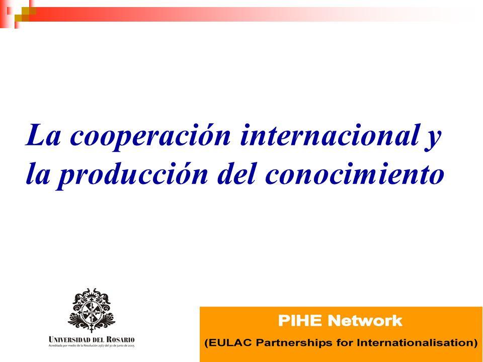 La cooperación internacional y la producción del conocimiento