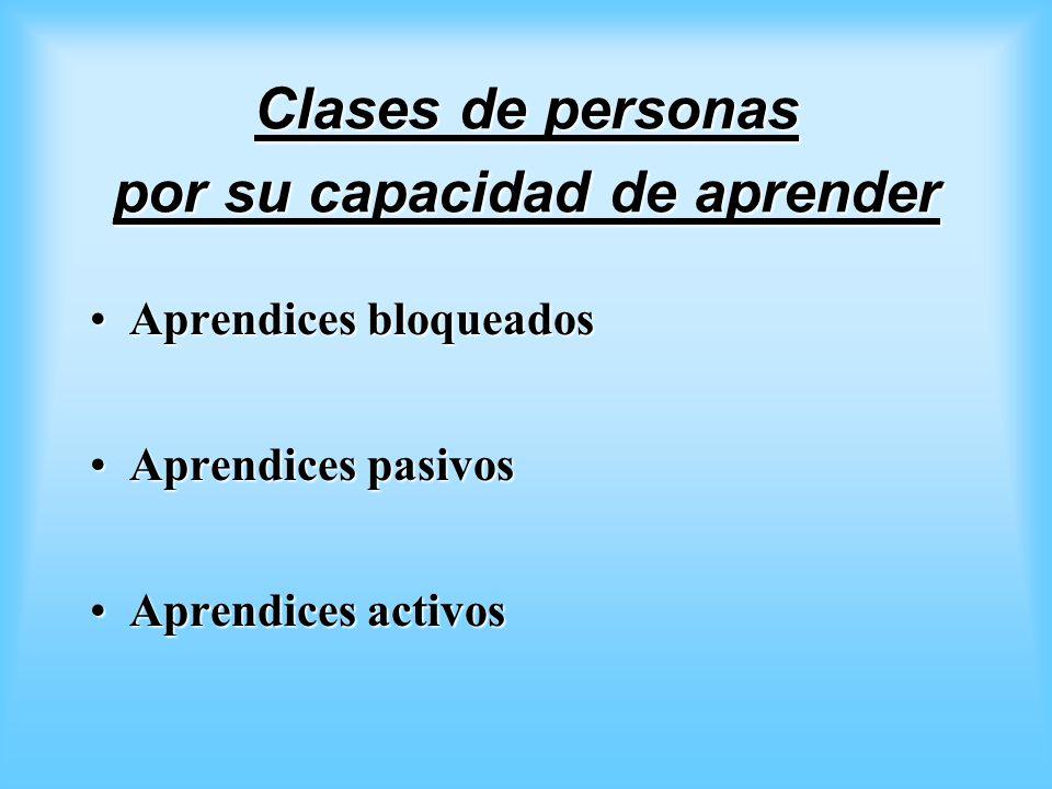 Clases de personas por su capacidad de aprender