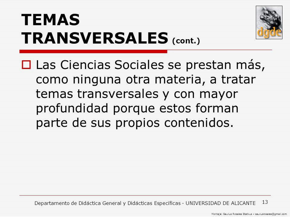 TEMAS TRANSVERSALES (cont.)