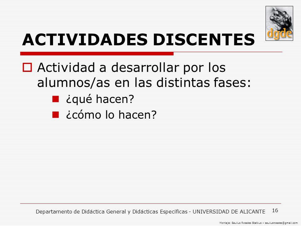 ACTIVIDADES DISCENTES