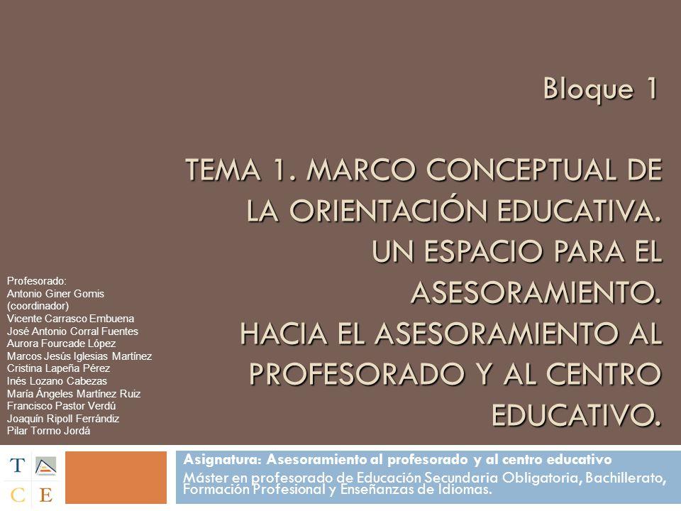 Profesorado: Antonio Giner Gomis (coordinador) Vicente Carrasco Embuena. José Antonio Corral Fuentes.