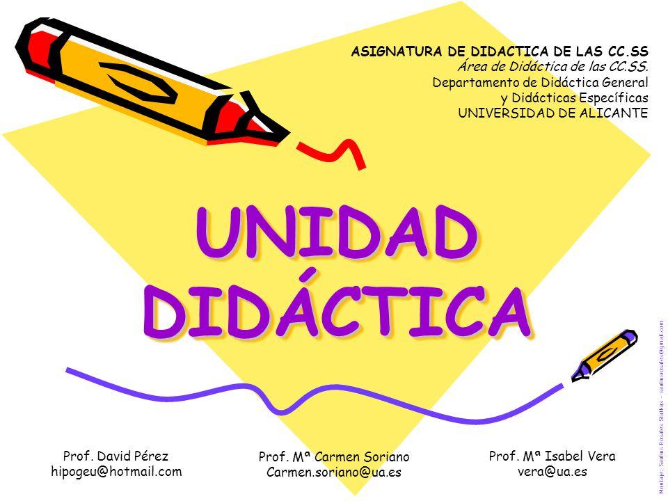 UNIDAD DIDÁCTICA ASIGNATURA DE DIDACTICA DE LAS CC.SS