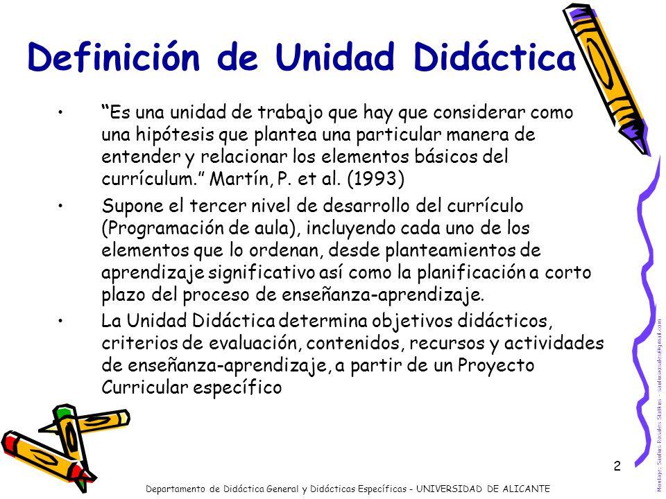 Definición de Unidad Didáctica