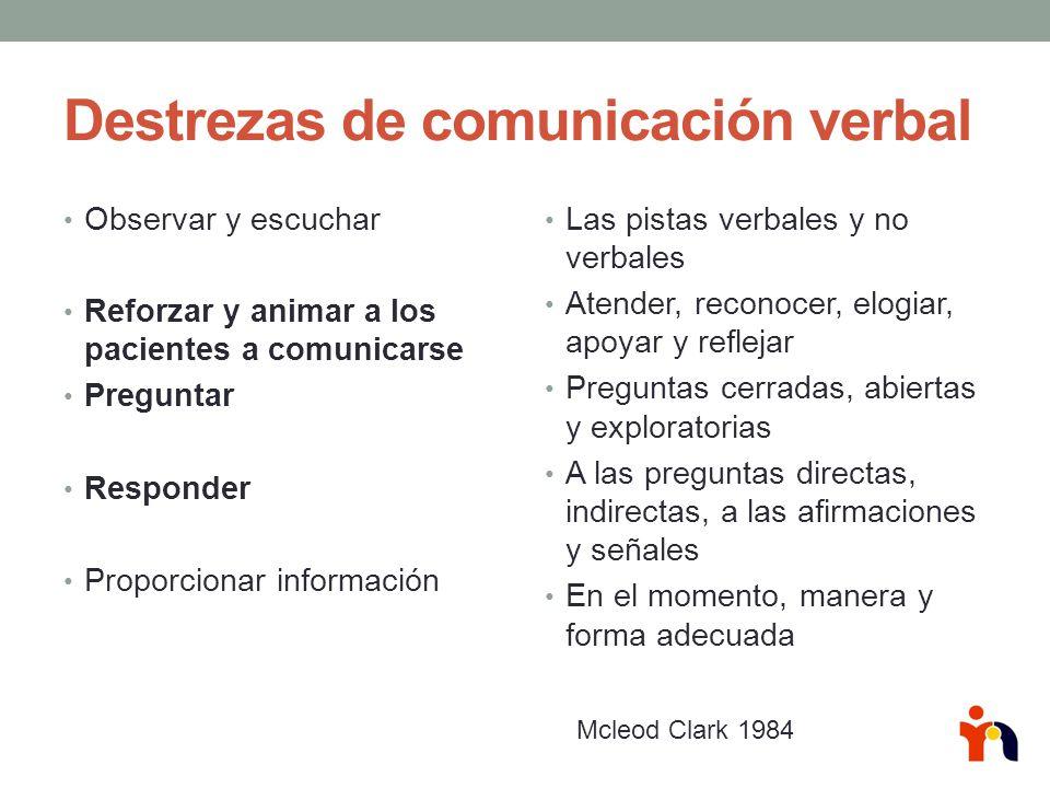 Destrezas de comunicación verbal