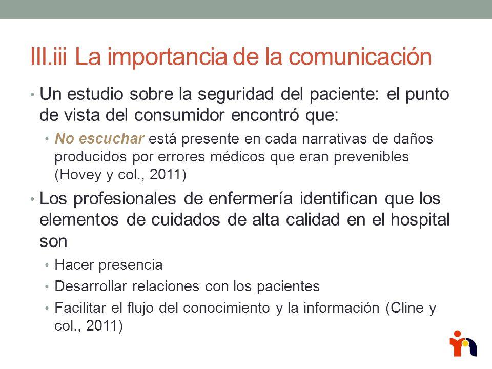 III.iii La importancia de la comunicación