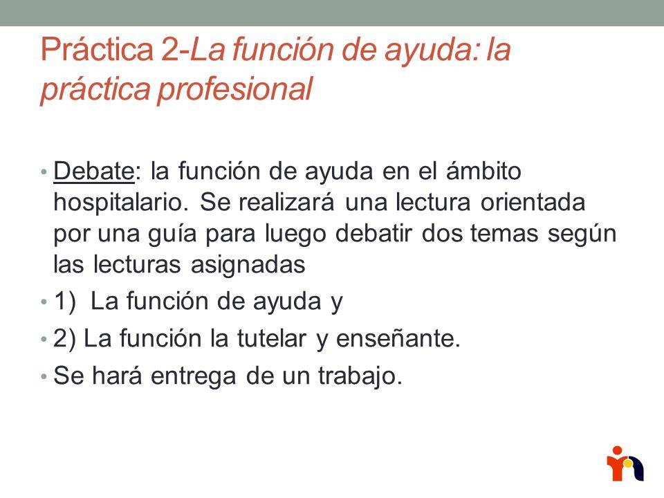 Práctica 2-La función de ayuda: la práctica profesional