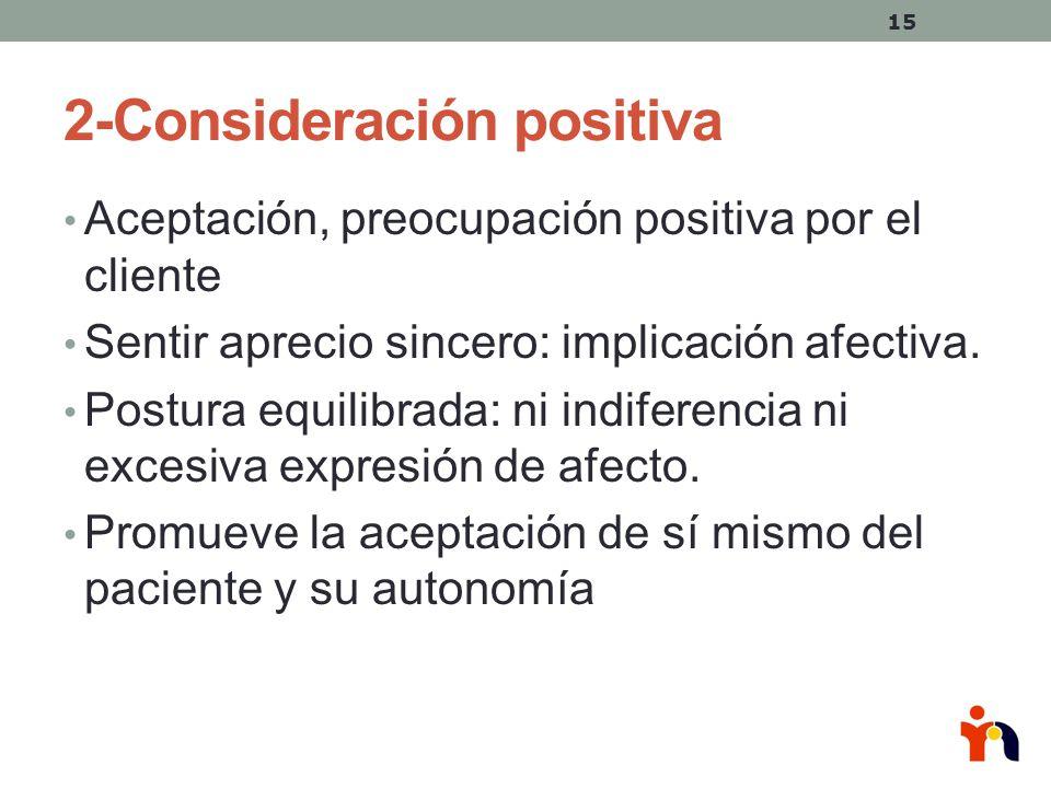 2-Consideración positiva