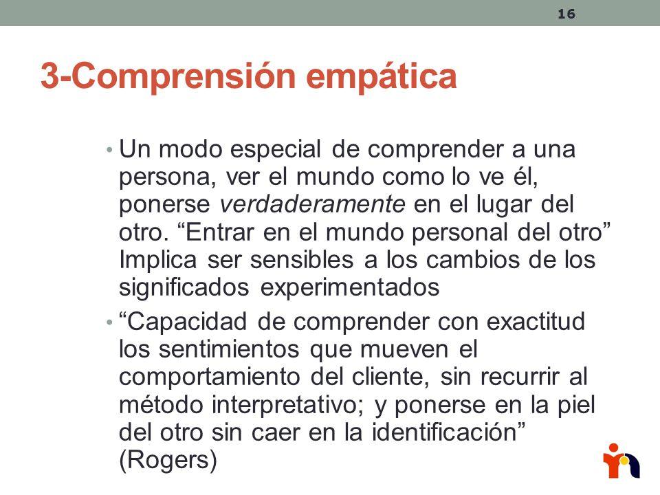 3-Comprensión empática