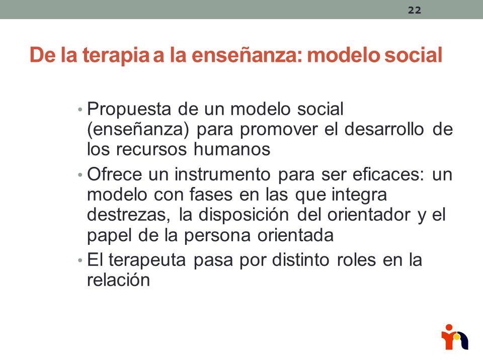 De la terapia a la enseñanza: modelo social