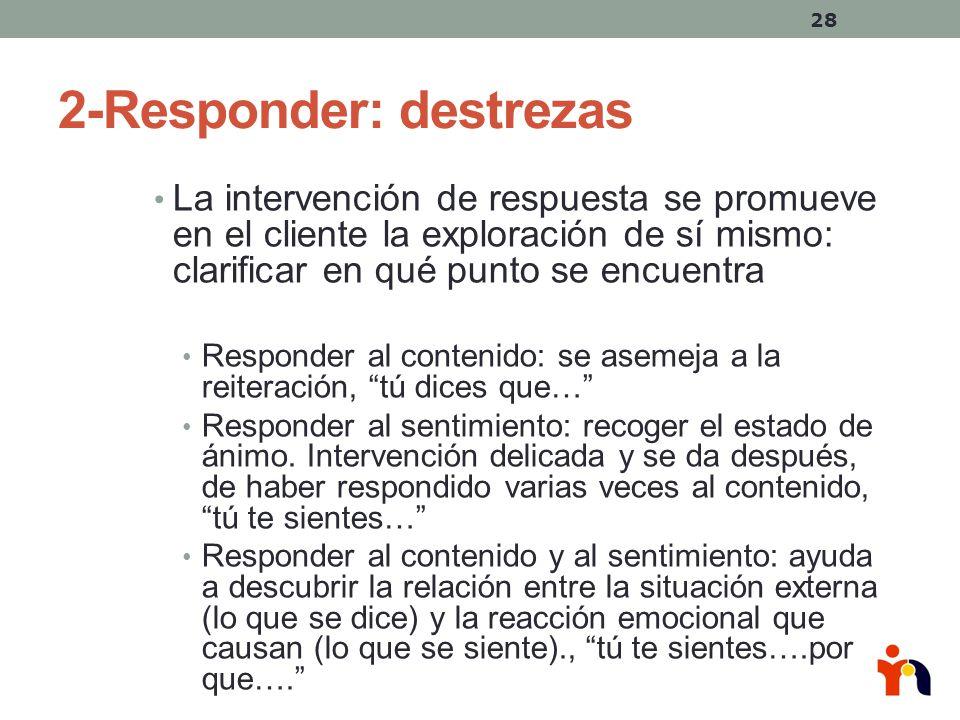 2-Responder: destrezas