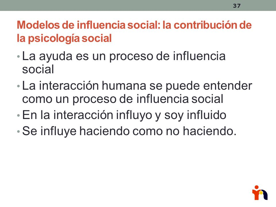 Modelos de influencia social: la contribución de la psicología social