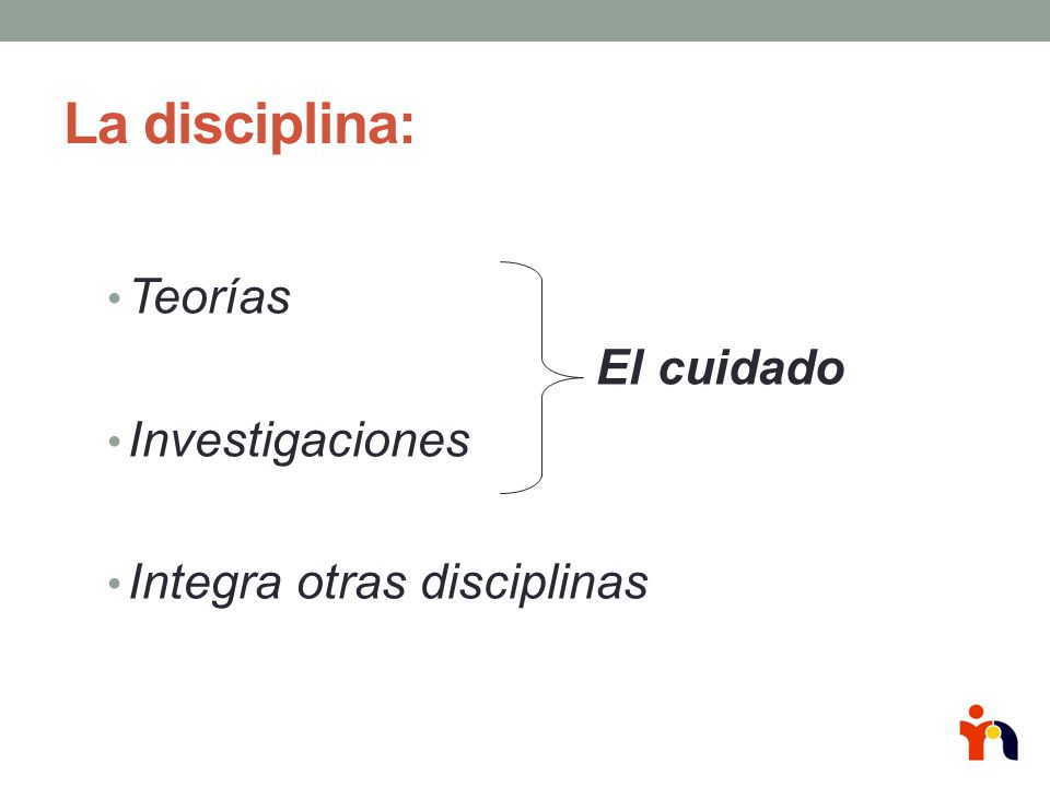La disciplina: Teorías El cuidado Investigaciones