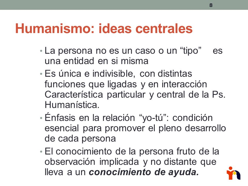 Humanismo: ideas centrales