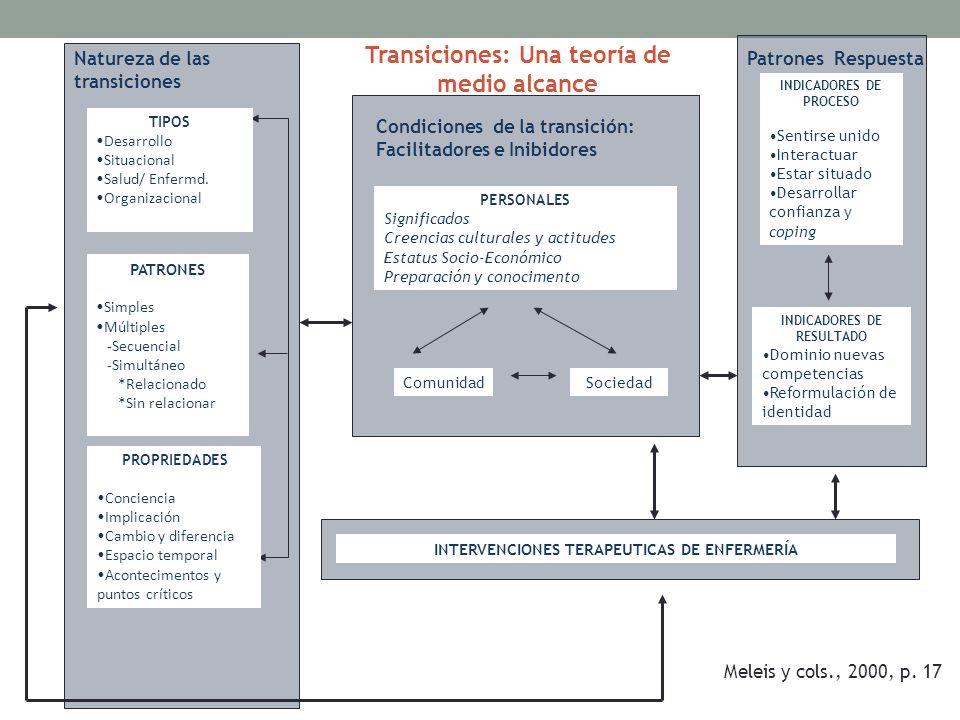Transiciones: Una teoría de medio alcance