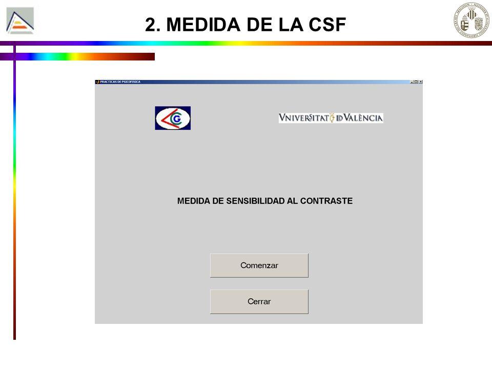 2. MEDIDA DE LA CSF