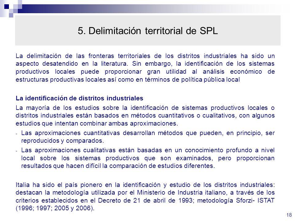 5. Delimitación territorial de SPL