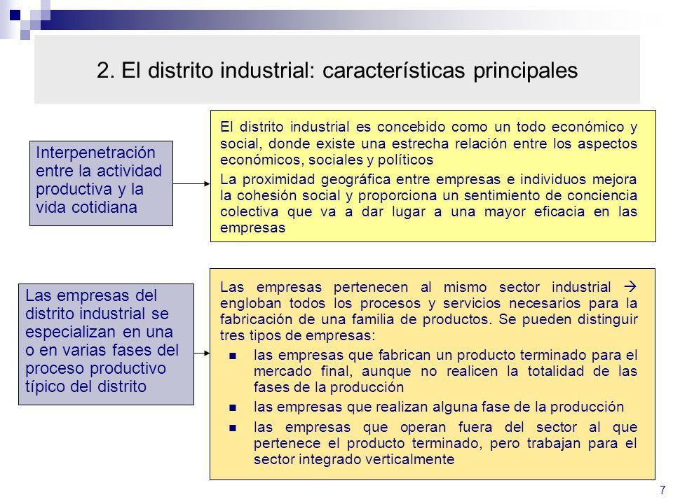 2. El distrito industrial: características principales