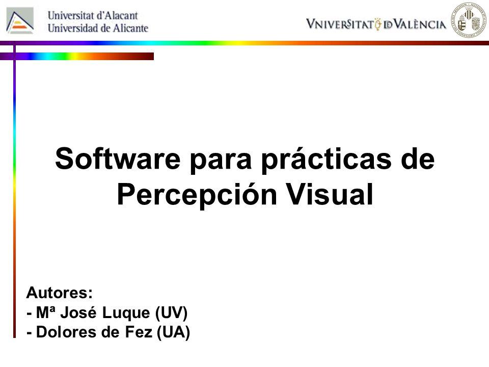 Software para prácticas de Percepción Visual