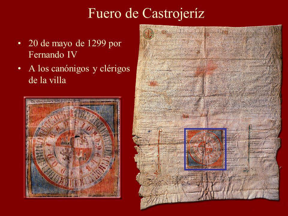 Fuero de Castrojeríz 20 de mayo de 1299 por Fernando IV